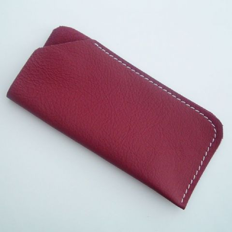Real Leather glasses case ~~ Red